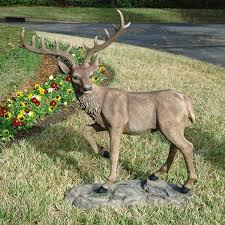 design toscano grand scale black forest garden deer statue