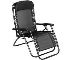 folding gravity sun lounger chair recliner garden sun deck bed
