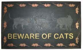 Rubber Cal Wipe Your Paws Imports Decor Beware Of Cat Doormat U0026 Reviews Wayfair