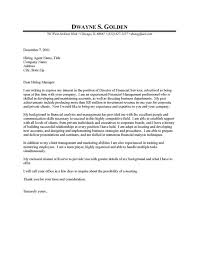 cover letter examples for finance professional finance manager