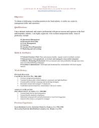 Best Resume For Hotel Management by Restaurant Resume Objective Berathen Com