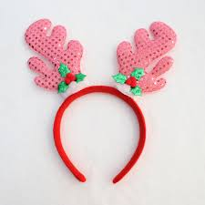 fawn headband hot sell christmas decorations santa claus antlers sequin fawn