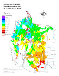 Oregon Drought Map by Less Than Average Water Supplies Possible In Some Western States