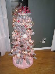 fake pink christmas tree christmas lights decoration
