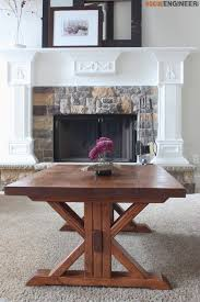 Free Woodworking Plans Dining Room Table by Trestle Coffee Table Free Diy Plans Coffee Woodworking And Woods