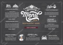 vector layout design menu restaurant template u2014 stock vector
