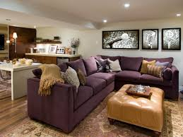 cute purple accents sectional sofa and lined cushion accessories