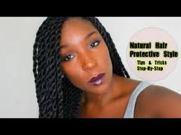 senegalese twist using marley hair protective style for hair growth retention senegalese havana
