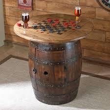whiskey barrel table design decoration