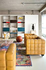 industrial loft with a bold collection of decor