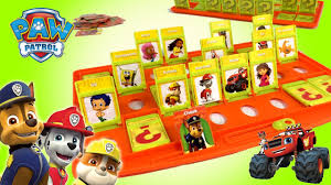 paw patrol tmnt nickelodeon whos left guessing game blaze bubble