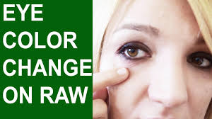 will your eyes change colour on a raw vegan diet or is it all