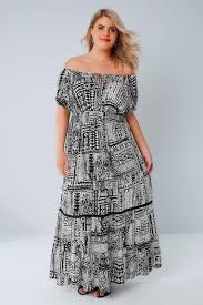 tribal dress black white tribal print maxi dress plus size 16 to 36