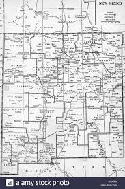 map ot map of new mexico state 1930 s stock photo royalty free