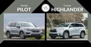 honda pilot size comparison toyota highlander vs honda pilot 2018 2019 car release and reviews