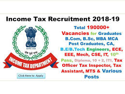 civil engineering jobs in india salary tax income tax recruitment 2018 19 www incometaxindia gov in login
