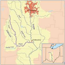 Ohio Rivers Map by Paint Creek Scioto River U2013 Wikipedia
