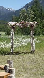 wedding arches and arbors wedding arbor green valley ranch montana