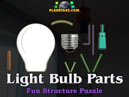 parts of a light bulb light bulb parts puzzle physics class game