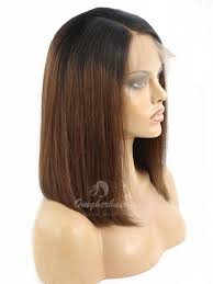lightened front hair ombre light yaki bob style lace front wig indian remy hair