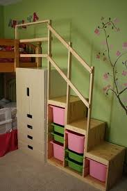 Ana White Camp Loft Bed With Stair Junior Height Diy Projects by Easy Full Height Bunk Bed Stairs Ikea Hackers Vincent