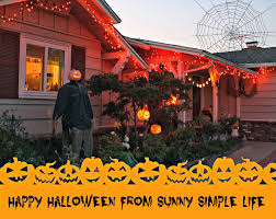 Outside Halloween Lights by Sunny Simple Life A Scary Scarecrow And Happy Halloween