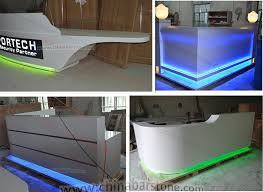 best counter modern design white l shape wood reception counter and artificial