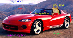 Doge Meme Car - 37a6e895c1e6e2f30d2f80e5978f3b11 gif