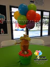 party decorations miami balloon sculptures lorax topiary