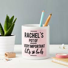 personalised ceramic desk tidy organiser by tillie mint loves