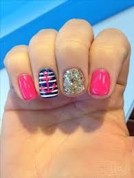 blue anchor summer gel nail art nails pinterest summer gel