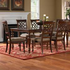 Cherry Dining Room Tables Standard Furniture Woodmont 7 Piece Leg Dining Room Set In Cherry