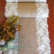 Burlap Lace Table Runner Burlap Table Runner Wedding Table Runner From Daniellescorner On