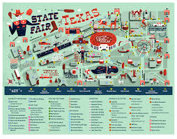 State Map Of Texas by Texas State Fair