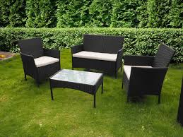 Rattan Garden Furniture 4 Piece All Weather Rattan Garden Furniture Set For Indoor Or
