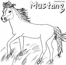 mustang horse coloring pages bestofcoloring com