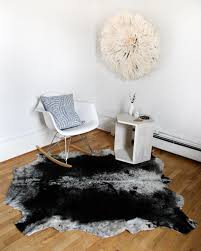 south african nguni cowhide rug black and white medium zeal living