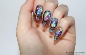 galaxy cut out stiletto nails nail designs nail art nails