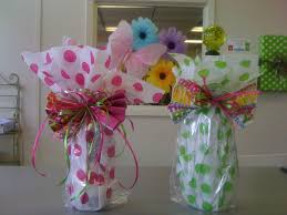 present tissue paper for wrapping wine bottles use a cellophane treat bag and