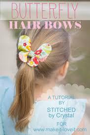 butterfly hair butterfly hair bow tutorial