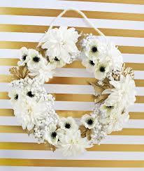 Wreath Diy White Gold Holiday Wreath Diy U2013 A Beautiful Mess