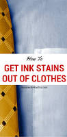 get ink stains out of clothes fresh or old it works