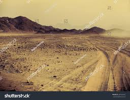 sahara desert sunset mountain landscape dust stock photo 287427062