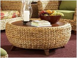 cool ottoman as coffee table coffee tables ideas round seagrass