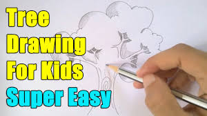how to draw a tree in easy way youtube