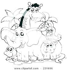 preschool jungle coloring pages forest animals coloring page coloring pages animals realistic color