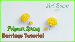 beginner earrings polymer clay yellow earrings tutorial for beginners jewellery