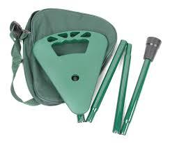 si e canne pliant canne à poignée siège pliante avec housse en vert ou en noir