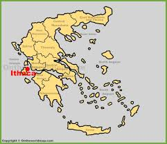 Ithaca New York Map by Ithaca Location On The Greece Map