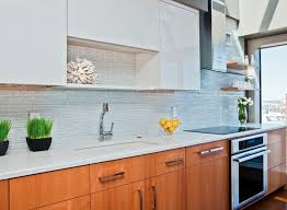 Warm Modern Kitchen - kitchen modern kitchen with warm tone cabinet and white countertop